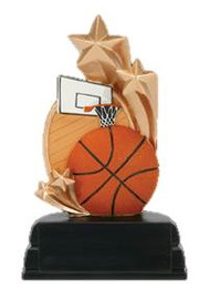 Basketball Star Color Resin Trophy