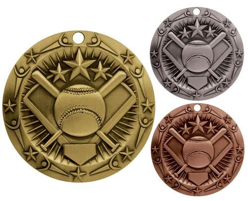 Softball World Class Medal - Gold, Silver & Bronze