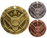 Softball World Class Medal - Gold, Silver & Bronze | Slow Pitch Award | 3 Inch Wide