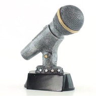 Microphone Trophy - Silver