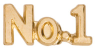 No. 1 Lapel Pin | Number One Letter Jacket Chenille Pin