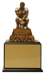 Fantasy Football Monster LAST PLACE / LOSER Perpetual Trophy | FFL MONSTER TOILET Award | 11.5 Inch Tall - Exclusive - Exclusive - Black Base