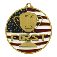 1st Place Patriotic Medal - Gold