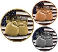 Boxing Patriotic Medal - Gold, Silver & Bronze