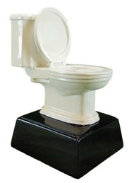 White Toilet Bowl Resin Trophy