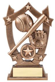 Baseball / Softball 3D Gold Sports Stars Trophy