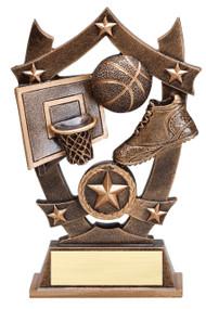 Basketball 3D Gold Sports Stars Trophy