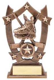 Hockey 3D Gold Sport Stars Trophy | Star Face-Off Player Award | 6.25 Inch