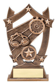 Swimming 3D Gold Sport Stars Trophy   Star Swimmer Award   6.25 Inch