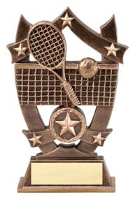 Tennis 3D Gold Sport Stars Trophy   Star Tennis Player Award   6.25 Inch