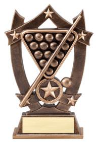 Billiards 3D Gold Sport Stars Trophy   Star Pool Player Award   6.25 Inch
