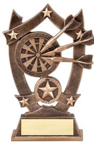 Darts 3D Gold Sports Stars Trophy