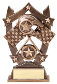 Racing 3D Gold Sport Stars Trophy   Star Motocross NASCAR Award   6.25 Inch