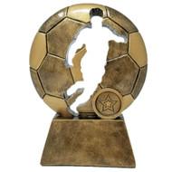 Soccer Ball Player Cut Out Trophy | Forward Silhouette Award | Futbol Trophies | 6.5 Inch