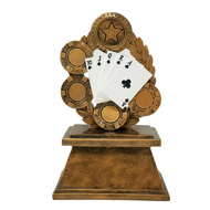 Poker Trophy | Royal Flush Award | Texas Hold Em | 7 Inch