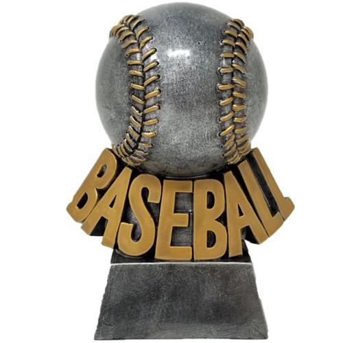 Silver Baseball Trophy