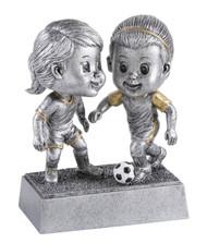 Soccer Double Bobblehead Trophy - Female