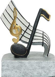 Music Color Tek Trophy | Musical Note Award | Band or Choir Trophies | 4 Inch