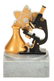Science Color Tek Trophy | Microscope Award | 4 Inch