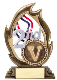 Victory Flame Series Trophy - Second Place