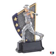 Baseball Color 5 Star Trophy