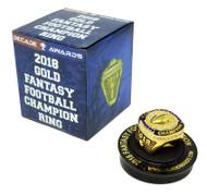2018 FFL / Fantasy Football Championship Ring - Gold