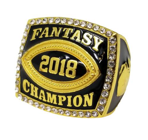 2018 Fantasy Football Championship Ring - Gold   GOLD FFL 2018 Champ Ring