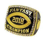 2018 Fantasy Football Championship Ring - Gold | GOLD FFL 2018 Champ Ring