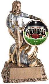 Fantasy Football League Valkyrie Trophy   Female FFL Award   6.75 Inch Tall
