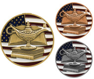 Academic Patriotic Medal – Gold, Silver and Bronze | Red, White and Blue Scholastic Award | 2.75 inch