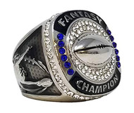 Fantasy Football Championship Ring - Silver | SILVER FFL Champ Ring | NO YEAR