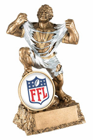 Fantasy Football Classic Shield Monster Trophy | FFL Beast Award | 6.75 Inch Tall