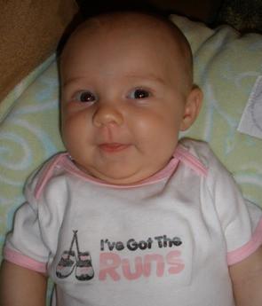 Runner Baby Onesie - Baby Blue or Pink