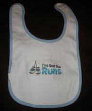 Runner Baby Bib - Baby Blue or Pink