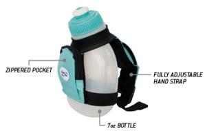 FuelBelt Dash Palm Holder w/ 7oz Bottle - 3 Colors