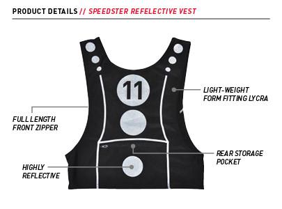 FuelBelt Speedster Reflective Vest - Pink & Black