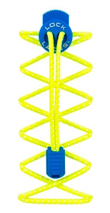 Lock Laces Reflective - Safety Yellow/Electric Blue