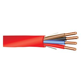 16 AWG 4/C Solid FPLP Plenum Rated Non-Shielded Fire Alarm Cable Red - 1000 Feet