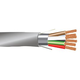 22 AWG 6/C Str CMR Riser Rated Shielded Sound & Security Cable - 1000 Feet