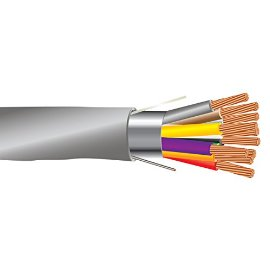 22 AWG 10/C Str CMR Riser Rated Shielded Sound & Security Cable - 1000 Feet