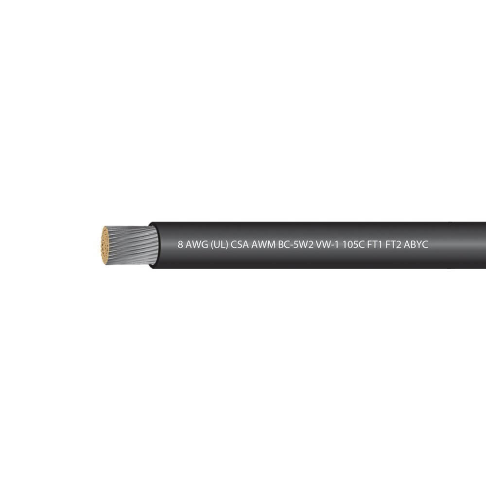 8 AWG UL Approved Marine Grade Tinned Copper Boat Battery Cable Rated 600 Volts