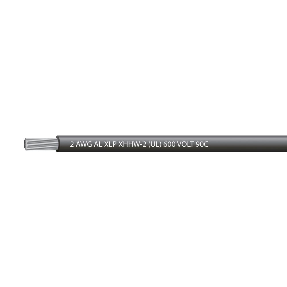 2 AWG Aluminum XHHW-2 600 Volts
