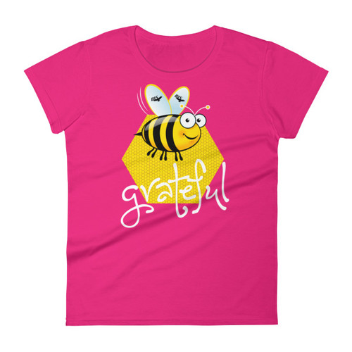 Women's Bee Grateful Short Sleeve T-shirt