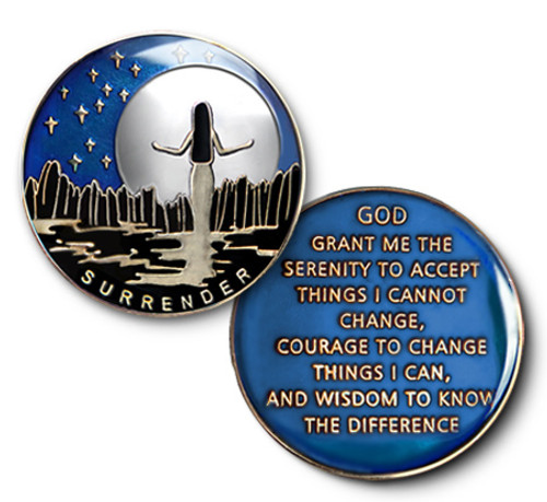 Surrender Coin Specialty Coin Tri-Plate Recovery Medallion