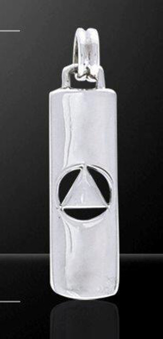 Sterling Silver Solid Sterling Silver Alcoholics Anonymous Pendant