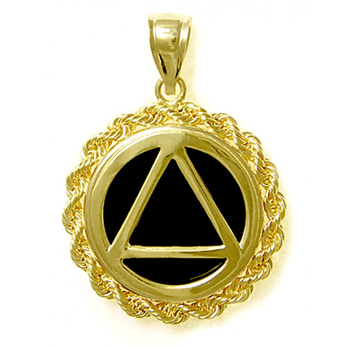 Mens AA pendant with black