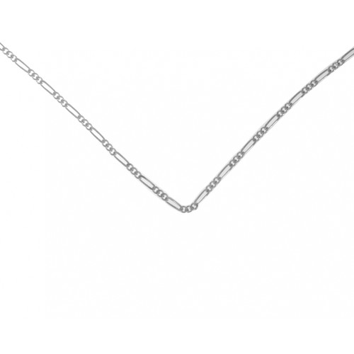 "Style #217-14, $14, 16"" Lt. Figaro Chain, Sterling Silver"