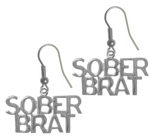 Sterling Sober Brat earrings