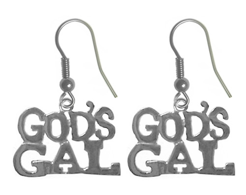 God's gal recovery earrings in sterling silver