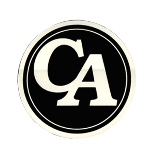 """#RS8, 3"""" Round """"CA"""" Initial Recovery Sticker"""